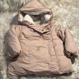 (48) Zara Baby Faux Fur lines Coat